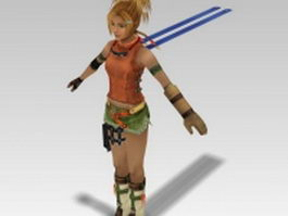 Rikku in Final Fantasy 3d model