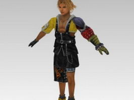 Tidus in Final Fantasy 3d model
