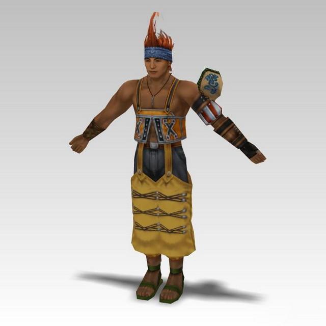 Rikku in Final Fantasy 3d model 3D Studio files free