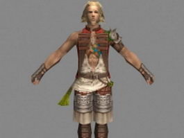 Basch fon Ronsenburg in Final Fantasy XII 3d model