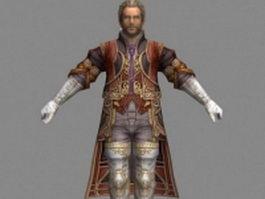 Cid Bunansa in Final Fantasy 3d model