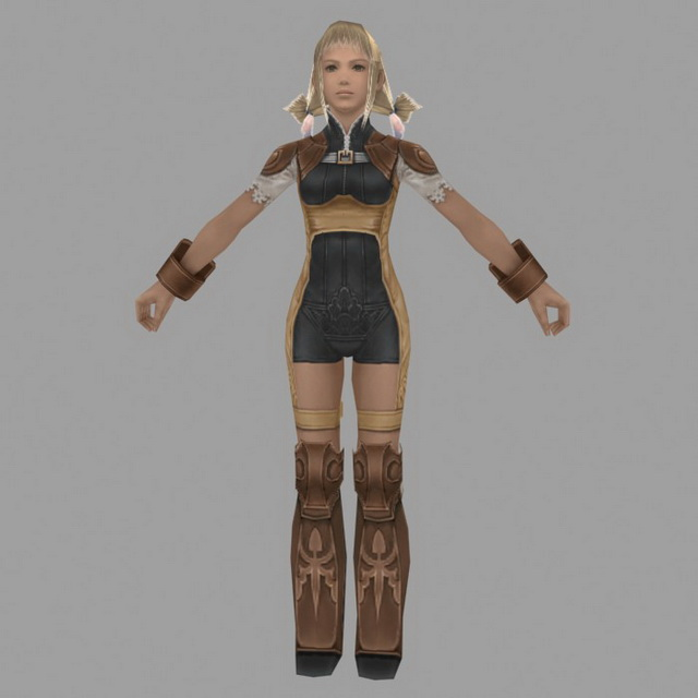 Girl Character In Final Fantasy Xii 3d Model 3ds Max Files