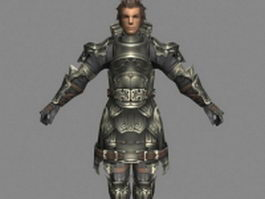 Vossler Azelas in Final Fantasy 3d model