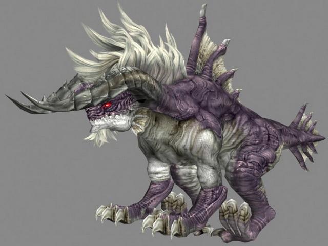 King Behemoth in Final Fantasy 3d rendering
