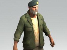 Bill - Vietnam Veteran 3d model