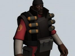 Demoman - Team Fortress character 3d model
