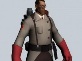 Medic - Team Fortress character 3d model