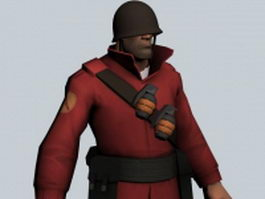 The Soldier - Team Fortress character 3d model