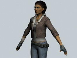 Alyx Vance - Half-Life character 3d model
