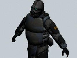 Combine soldier - Half Life character 3d model