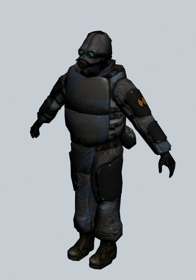 Combine soldier - Half Life character 3d model 3ds max ...