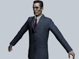 G-Man - Half-Life character 3d model