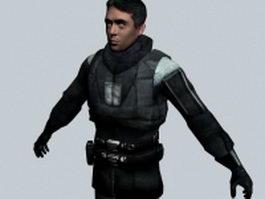 Barney Calhoun - Half-Life character 3d model