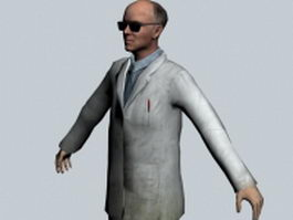 Isaac Kleiner - Half-Life character 3d model