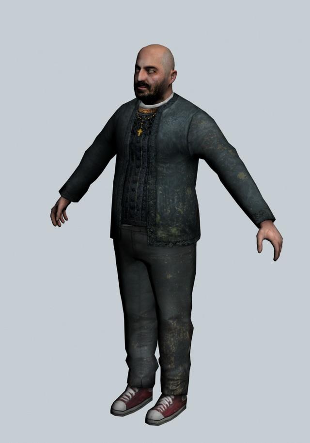 father grigori   half life character 3d model 3ds max