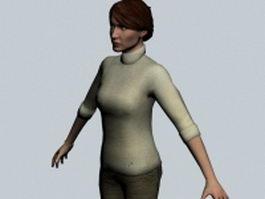 Dr. Judith Mossman - Half-Life character 3d model