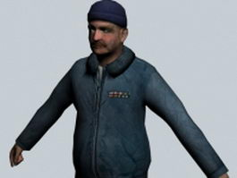 Colonel Odessa Cubbage - Half-Life character 3d model