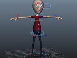 Cartoon man expressions rigged 3d model