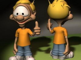 Dennis the Menace cartoon version 3d model