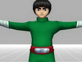 Rock Lee - Naruto character 3d model