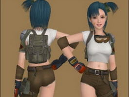 Bulma - Dragon Ball character 3d model