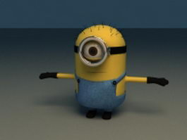 Gru's Minions in Despicable Me - Rigged & Animated 3d model
