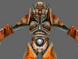 Alien male character 3d model