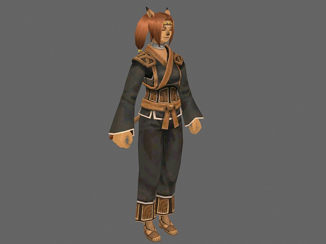 Anime Characters 3d Models : Fox girl anime character d model ds max files free