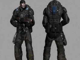 Future soldier design 3d model