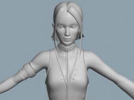 Warrior woman 3d model