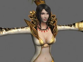 Ancient fantasy girl 3d model