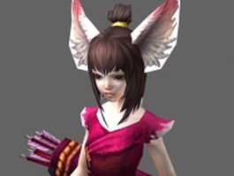 Female fox warrior 3d model