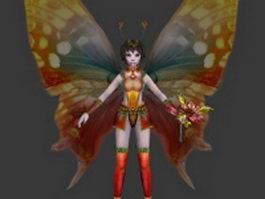 Flower fairy 3d model