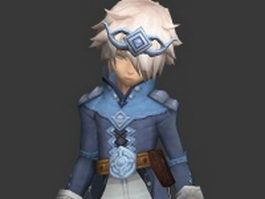 Fantasy young prince 3d model