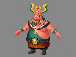 Fantasy fat man 3d model