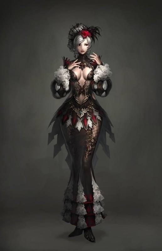 Fantasy girl nackt