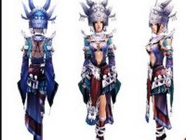 Hmong princess 3d model