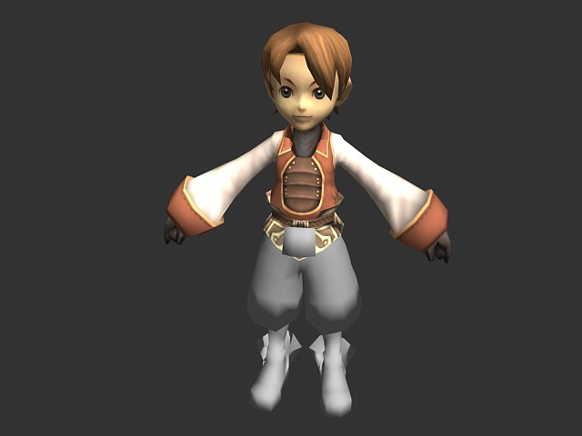 Cartoon Characters 3d Model Download : Fantasy cute boy d model ds max object files free