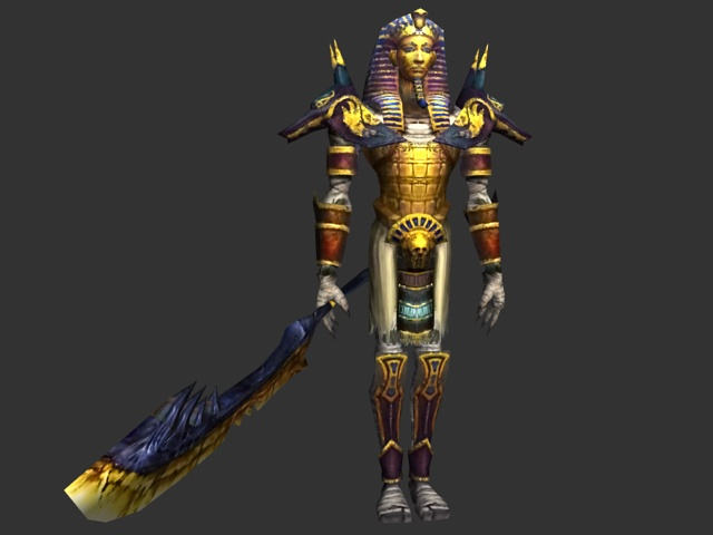 Pharaoh Warrior 3d Model 3ds Max Files Free Download