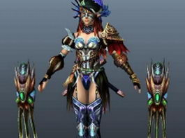 Female assassin 3d model