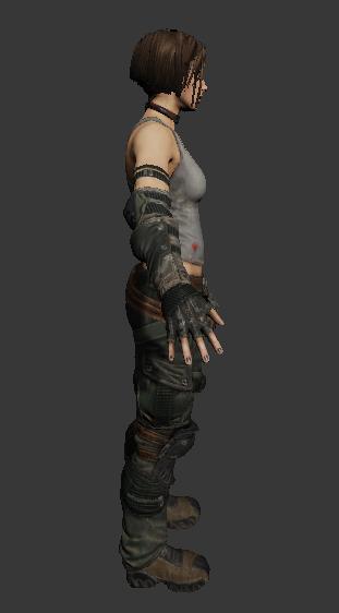 Trishka Novak Bulletstorm Character 3d Model 3ds Max