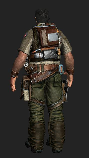 Whit Oliver Bulletstorm Character 3d Model 3ds Max Files