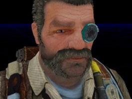 Whit Oliver - Bulletstorm character 3d model