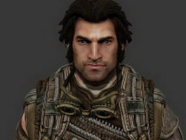 Grayson Hunt - Bulletstorm character 3d model