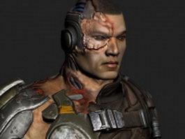 Ishi Sato - Bulletstorm character 3d model