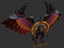 Armored bird humanoid 3d model