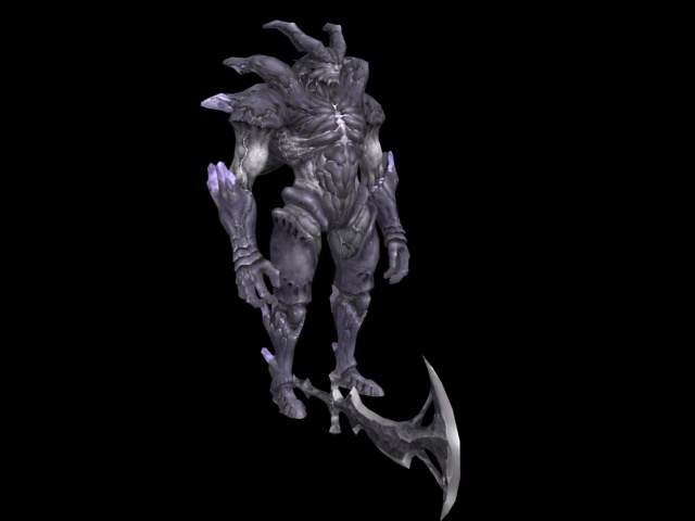 Monster Warrior 3d Model 3ds Max Files Free Download