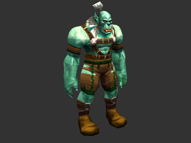 Orc Wow New Model WoW Orc male 3d model ...