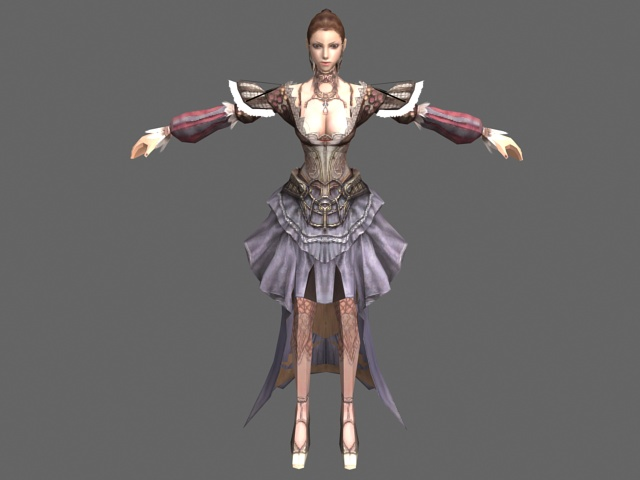 Noble Lady 3d Model 3ds Max Files Free Download Modeling