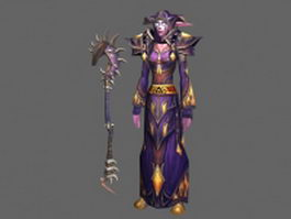 Night Elf female - WoW character 3d model